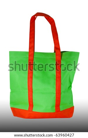 Green and orange,  shopping bag