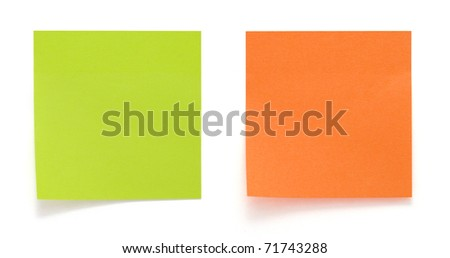 Green and orange sticker isolated
