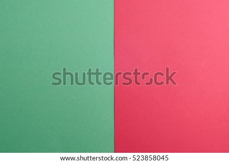Green and pink color paper background