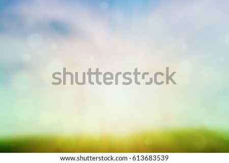 green and warm, blur background