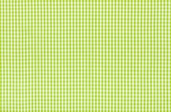 Green and white checkered fabric