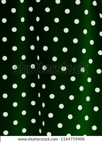 Green and white dotted material dots fabric for background #1164759406