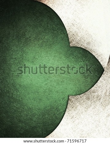 green and white parchment background with layers, grunge texture, faded soft lighting, and copy space to add title, text, or image to design layout