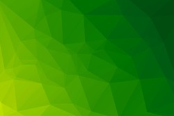 green and yellow abstract polygonal background