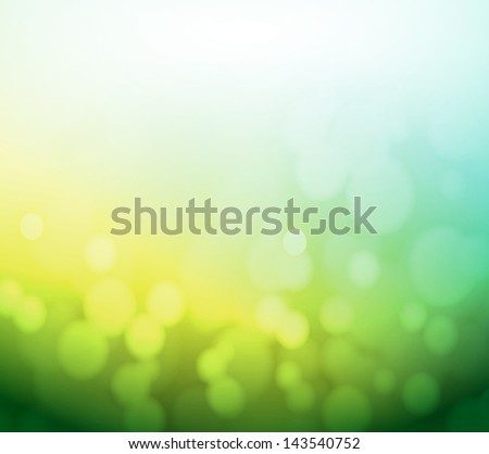 green and yellow bokeh abstract light background. illustration design