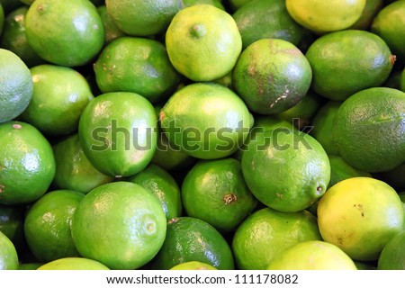Green and yellow limes