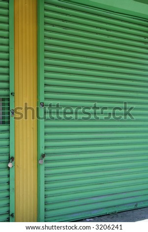 green and yellow storefront