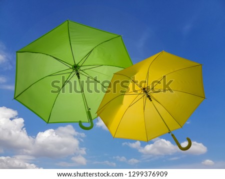 08fa4d177 Umbrella of yellow color - object over white Images and Stock Photos ...