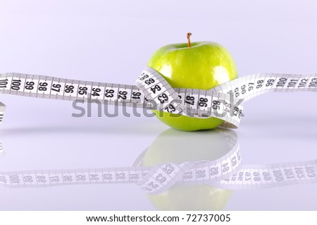 green apple and tapeline