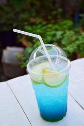 Green apple blue Hawaii Italian soda.