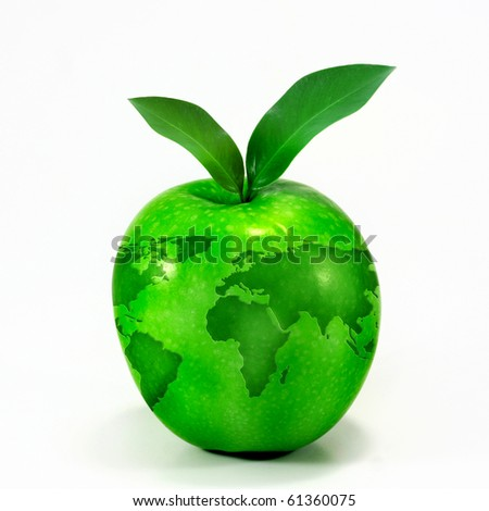 green apple globe