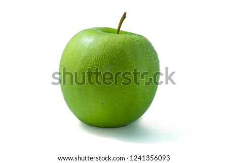 Green apple. Isolated on white picture