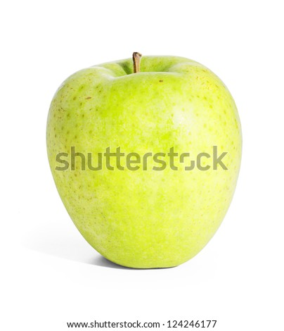 Green apple. Isolated on white with clipping path.