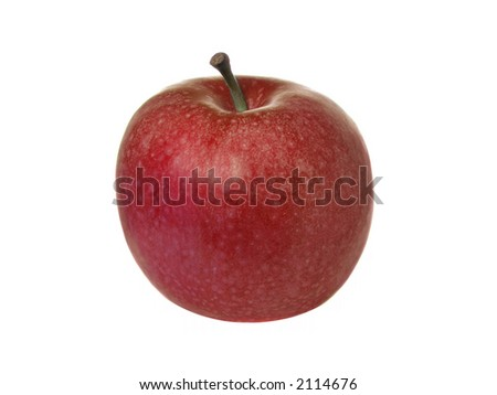 Green apple isolated over pure white background