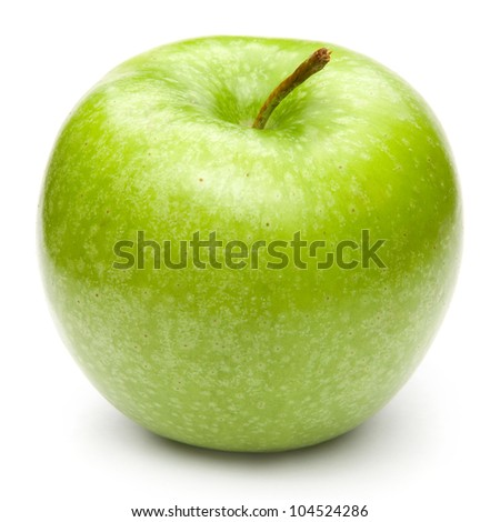 Green apples Isolated on a white