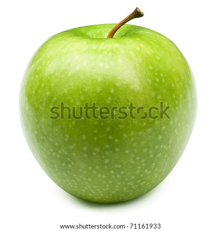 Green apples Isolated on a white background + Clipping Path