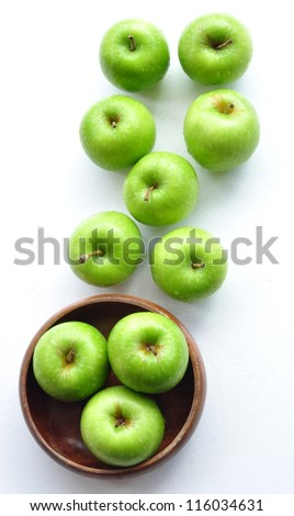 Green Apples, top view