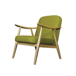 Green armchair isolated on white background