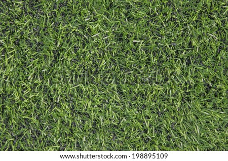 Green artifical turf, Synthetic green grass football pitch