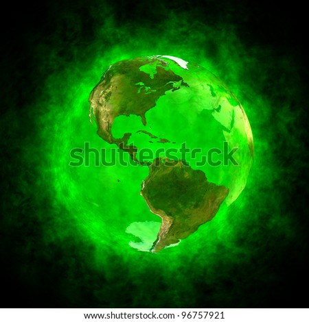Green aura of Earth - America