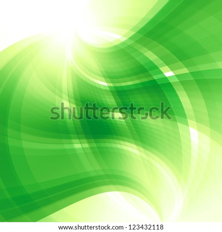 green background