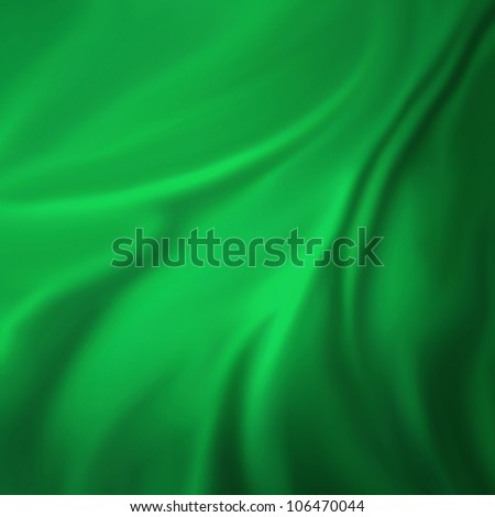 green background abstract cloth or liquid wave illustration of wavy folds of silk texture satin or velvet material or green luxurious Christmas background wallpaper design of elegant green material