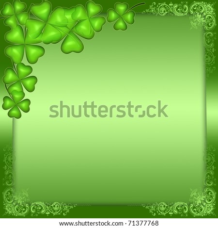 Green background for St. Patrick's day