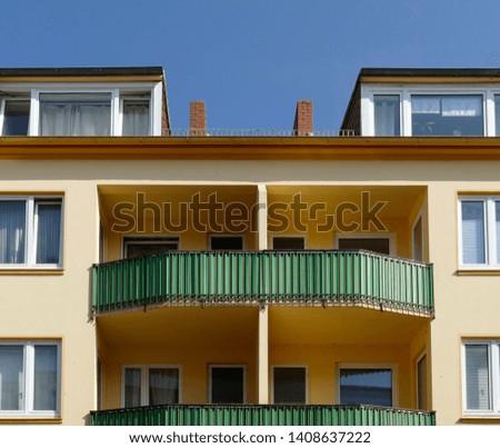 Green balconies, Modern residential building, Apartment building, Apartment block #1408637222