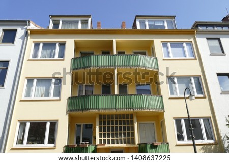 Green balconies, Modern residential building, Apartment building, Apartment block #1408637225