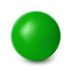 Green Ball isolated on a White background with clipping path