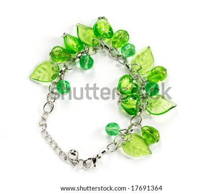 green bangle on the white