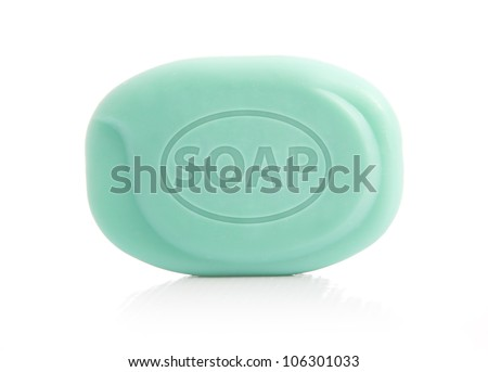 Green Bar of Soap - stock photo