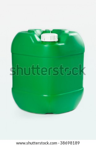 green barrel on white background