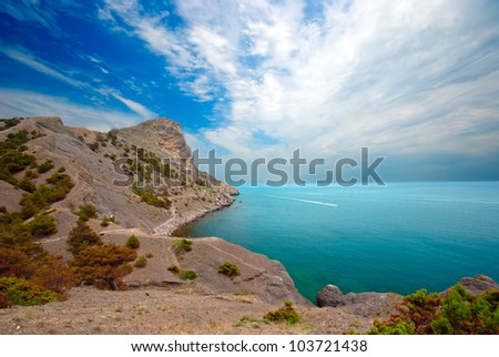 "Green Bayl and Golitsyn trail. Crimea, ""New Light"""