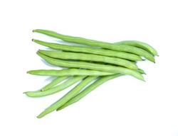 Green bean on background.