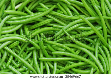 green bean string close up