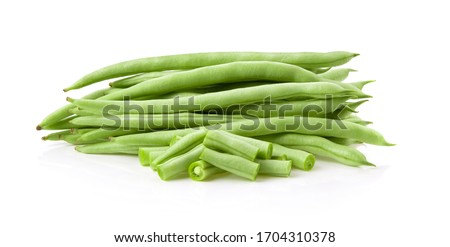 Green beans isolated on a white background Stockfoto ©