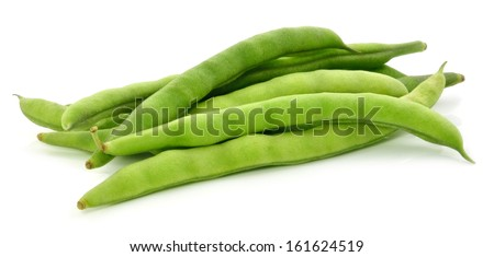 green beans on white background Сток-фото ©