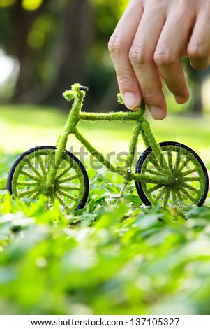 green bicycle concept