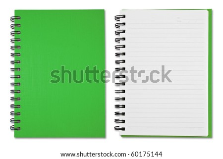 Green Blank Note Book