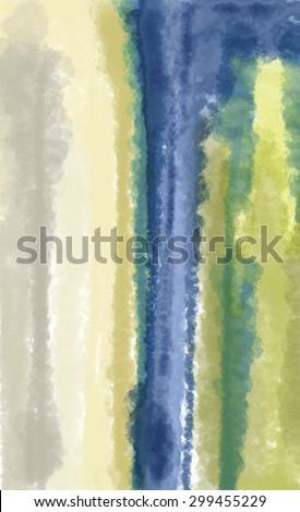 Green Blue Abstract Painting Art (Digital Art, Raster)