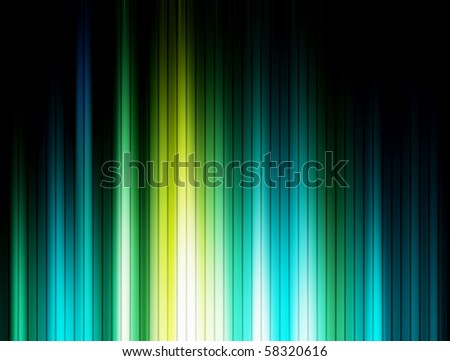 Green, blue and black luminous lines background