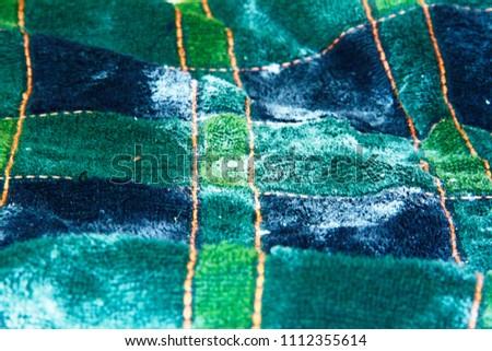 Green blue striped orange stripe background fabric, fleecy cloth towel, texture  #1112355614
