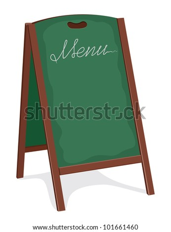 green board for restaurant