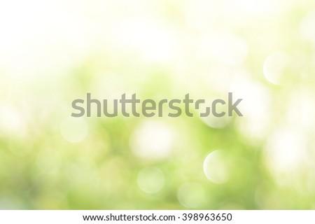Green bokeh on nature defocus art abstract blur background