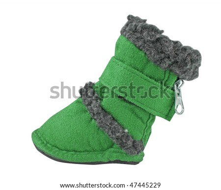 green boots for dog