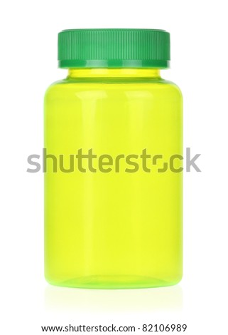 Green Bottle - stock photo