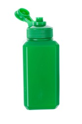 Green bottle with liquid medical disinfectant, antiseptic EPS10