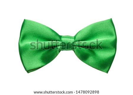 Green bow tie isolated on white background Stock fotó ©
