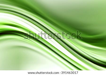 green bright waves art. blurred ...